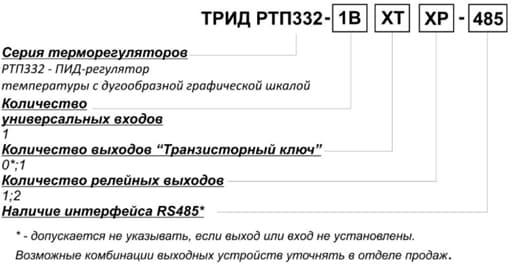 Схема подключения РТП 332: