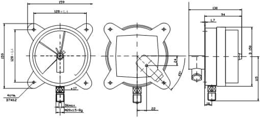 Электроконтактные (сигнализирующие) манометры, вакуумметры и мановакуумметры ДМ2005, ДВ2005, ДА2005 предназначены для...