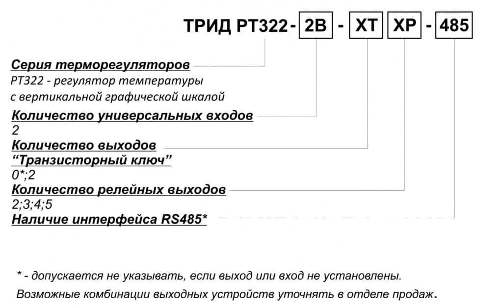 Схема подключения РТ322: